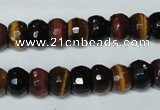CTE202 15.5 inches 7*10mm faceted rondelle red & yellow tiger eye beads