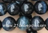 CTE2030 15.5 inches 8mm round blue tiger eye gemstone beads