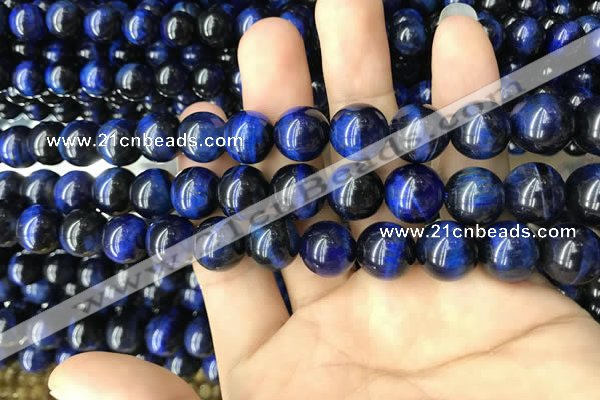 CTE2039 15.5 inches 12mm round blue tiger eye beads wholesale