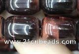 CTE2066 15.5 inches 10*14mm drum red tiger eye gemstone beads