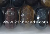 CTE2107 12*18mm faceted rondelle AB-color mixed tiger eye beads