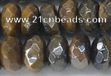 CTE2112 4*6mm faceted rondelle AB-color yellow tiger eye beads