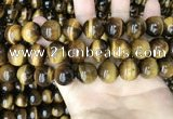 CTE2163 15.5 inches 16mm round yellow tiger eye gemstone beads