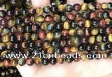 CTE2201 15.5 inches 6mm round mixed tiger eye gemstone beads