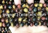 CTE2203 15.5 inches 10mm round mixed tiger eye gemstone beads