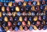 CTE2214 15.5 inches 14mm round colorful tiger eye beads wholesale