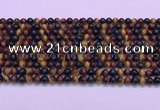 CTE2218 15.5 inches 4mm round colorful tiger eye gemstone beads