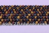 CTE2219 15.5 inches 6mm round colorful tiger eye gemstone beads