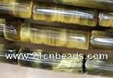 CTE2245 15.5 inches 4*14mm tube yellow tiger eye beads wholesale