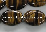 CTE303 15.5 inches 18*25mm oval yellow tiger eye gemstone beads