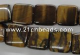 CTE309 15.5 inches 16*16mm square yellow tiger eye gemstone beads