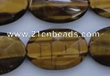 CTE432 15.5 inches 20*30mm faceted oval yellow tiger eye beads