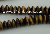 CTE436 15.5 inches 4*10mm rondelle yellow tiger eye beads wholesale