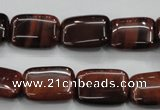 CTE55 15.5 inches 12*16mm rectangle red tiger eye gemstone beads