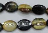 CTE570 15.5 inches 13*17mm oval golden & blue tiger eye beads