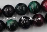 CTE596 15.5 inches 16mm round colorful tiger eye beads wholesale