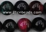 CTE598 15.5 inches 20mm round colorful tiger eye beads wholesale