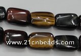 CTE64 15.5 inches 13*18mm rectangle mixed tiger eye gemstone beads