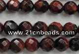 CTE703 15.5 inches 10mm faceted round red tiger eye beads