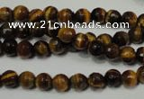 CTE751 15.5 inches 6mm faceted round yellow tiger eye beads wholesale