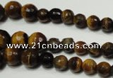CTE759 15.5 inches 6mm – 14mm faceted round yellow tiger eye beads