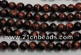 CTE83 15.5 inches 6mm round red tiger eye gemstone beads