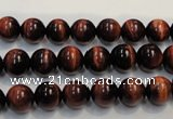 CTE84 15.5 inches 8mm round red tiger eye gemstone beads