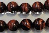 CTE87 15.5 inches 14mm round red tiger eye gemstone beads