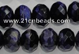 CTE944 15.5 inches 12*16mm faceted rondelle dyed blue tiger eye beads
