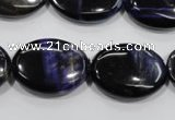 CTE955 15.5 inches 18*25mm oval dyed blue tiger eye beads wholesale