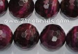 CTE977 15.5 inches 18mm faceted round dyed red tiger eye beads