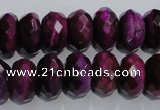 CTE983 15.5 inches 10*14mm faceted rondelle dyed red tiger eye beads