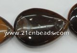 CTE99 15.5 inches 30*40mm flat teardrop yellow tiger eye beads wholesale