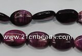 CTE993 15.5 inches 10*14mm oval dyed red tiger eye beads wholesale