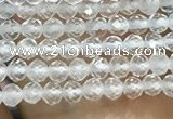CTG1015 15.5 inches 2mm faceted round tiny white crystal beads