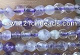 CTG1024 15.5 inches 2mm faceted round tiny purple fluorite beads