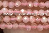 CTG1031 15.5 inches 2mm faceted round tiny moonstone beads