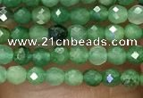 CTG1036 15.5 inches 2mm faceted round tiny African jade beads