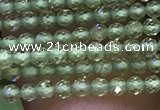CTG1046 15.5 inches 2mm faceted round tiny peridot gemstone beads