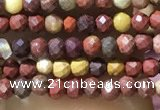 CTG1062 15.5 inches 2mm faceted round tiny mookaite beads