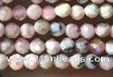 CTG1080 15.5 inches 2mm faceted round tiny rhodochrosite beads
