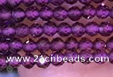 CTG1083 15.5 inches 2mm faceted round tiny purple garnet beads