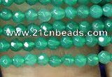 CTG1096 15.5 inches 2mm faceted round tiny quartz glass beads