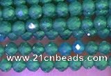 CTG1097 15.5 inches 2mm faceted round tiny quartz glass beads
