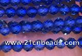 CTG1099 15.5 inches 2mm faceted round tiny quartz glass beads