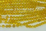 CTG111 15.5 inches 2mm round tiny yellow agate beads wholesale