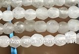 CTG1110 15.5 inches 3mm faceted round tiny white agate beads