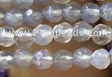 CTG1111 15.5 inches 3mm faceted round tiny grey agate beads