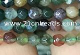 CTG1116 15.5 inches 3mm faceted round tiny Indian agate beads