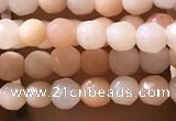 CTG1152 15.5 inches 3mm faceted round tiny pink aventurine beads